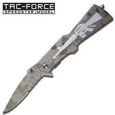 Tac Force Spring Assisted Semi-Automatic M-16 Style Gun Folding Pocket Knife NEW