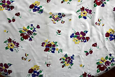 "Very Rare Deadstock 1930's French Silk Chiffon ""Tulips and Flowers"" 5 Yd x 45""W"