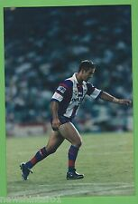 #T54. RUGBY LEAGUE PHOTO -ANDREW JOHNS PREPARING TO KICK BALL, NEWCASTLE KNIGHTS