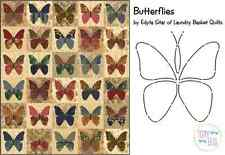 Butterflies Applique Quilt Pattern & Stencil ~ Edyta Sitar Laundry Basket Quilts