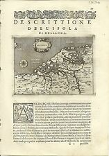 Antique maps, Hollanda [Porcacchi, 1576]