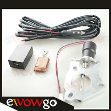 "2.5"" 63mm Electric Exhaust Catback Downpipe Cutout Valve Motor + Remote Control"