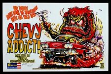 Ed BIG DADDY Roth CHEVY MONSTER ADDICT Art Poster SIGNED by JOHNNY ACE & KALI
