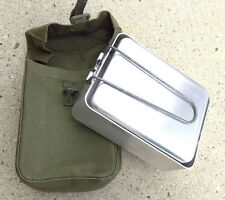 Canadian Military Mess Tin & 64 Patt Pouch New Camping Survival Cookware #7454