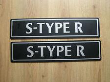 Nuevo sin usar Genuine Jaguar S-TYPE-R Str distribuidor Showroom número placas de exhibición