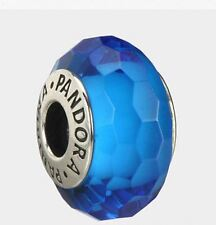 Pandora Turquoise Faceted Murano Charm 925 ALE authentic MIB 791607