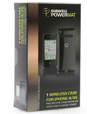 Duracell Powermat Wireless Battery Protective Case for iPhone 4 4S - Black
