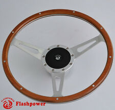 "13"" Classic wood steering wheel Restoration Vintage Triumph Spitfire TR4,TR5,TR6"