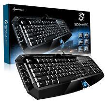 Sharkoon Skiller schwarze Gaming USB Tastatur Gamer Keyboard WASD Deutsch QWERTZ