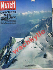 Paris Match n°652 07/10/1961 Mont-Blanc parachute salon auto Yves Saint-Laurent