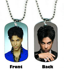 DOG TAG NECKLACE - Prince 3 Pop Rock Singer Songwriter Purple Rain icon Guitar