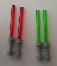 LEGO® Star Wars™ 4 Laserschwerter 2x rot, 2x grün Neuware Zubehör für Figuren
