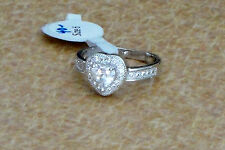 Ladies Heart Fashion Ring Size 6 with Cubic Zirconia Stones