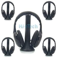 5x New Wireless Headphone Stereo Earphone Black for MP3/MP4 PC TV CD FM Radio US