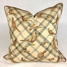 NOVELTY PRINT OF GAME BIRDS LARGE  DECORATIVE  ACCENT PILLOW