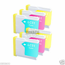 6 Color LC51 NON-OEM Ink Cartridge for Brother Printer MFC-3360C MFC-240C LC51