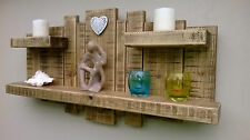 FLOATING SHELF HOME DECOR WALL ART STORAGE FURNITURE RUSTIC RECLAIMED WOOD UNIT