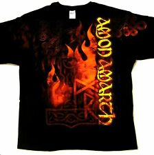 AMON AMARTH cd lgo RUNES OF FIRE All Over Official SHIRT SMALL new