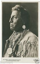 Blackfoot 'Chief Two Guns White Calf' Signed Photograph - Native American Indian