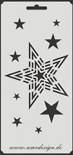 Scrapbooking Schablone S-121  Sterne ~ Stencil ~ UMR-Design