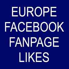 1000 Real Europe Facebook FanPage Fans Likes or Profile Followers or Post Likes