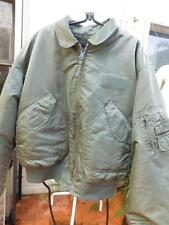ALPHA INDUSTRIES CWU 45-P SAGE GREEN NYLON FLIGHT JACKET SZ XL