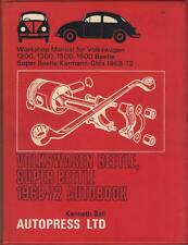 VW BEETLE 1200,1300,1500,1302,1302 S,KARMANN GHIA WORKSHOP MANUAL 1968-1972
