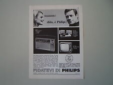 advertising Pubblicità 1966 PHILIPS RADIO 340 LT/TELEVISORE 23TI 500 MOD SALERNO