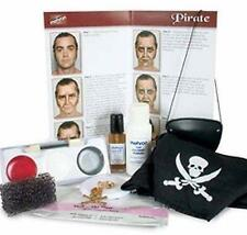 New Authentic Mehron Professional Premium Pirate Make-up Kit w/ Props Eyepatch