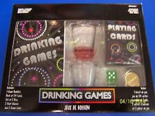 Drinking Games Book 21st Birthday Party Game Gift Cards Dice Coins Shot Glasses