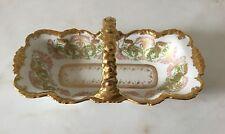 J. Pouyat Limoges Basket-Heavy Gold Encrusted Porcelain-France c.1906-32.  *1674