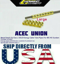 Metal Detail Up Size L GOLD Energy Cable Tube Pipes MG HG Gundam - U.S.A. SELLER