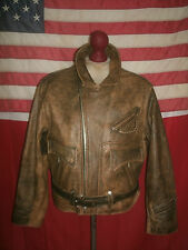 Vintage Rare!  CHEVIGNON  Motorcycle Cruiser Leather Jacket . Size L