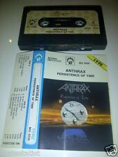 ANTHRAX ‎– Persistence of Time MC tape RARE POLISH PRESS 1990