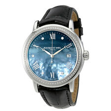 Raymond Weil Maestro Blue Mother of Pearl Diamond Automatic Ladies Watch
