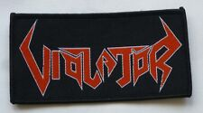"Violator ""Logo"" Woven Patch - chemical assault scenarios of brutality"