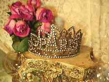 Santos Crown of PARIS with Eiffel Tower in Rhinestones Replica Style of 1800's