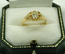 Antique Ladies / Gents 18ct Gold  Rare Fancy Lemon 0.55ct Diamond Solitaire Ring