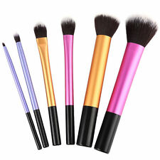 6pcs Pro Cosmetic Techniques Make Up Brushes Core Collection Starter Kits
