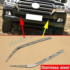 Steel Head Grill Stripe Trim For Toyota Land Cruiser LC200 Facelift 2016 2017