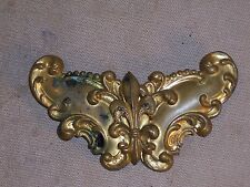 Antique Victorian Brass FLEUR DE LIS RELIEF Belt buckle Collectible Accessories