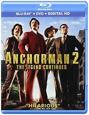 NEW - Anchorman 2: The Legend Continues (Blu-ray + DVD + Digital HD)