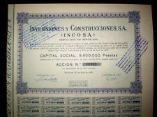 Inversiones y Construcciones 1956  Spain   Share certificate