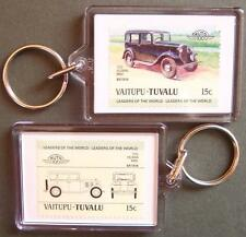 1932 HILLMAN MINX Car Stamp Keyring (Auto 100 Automobile)