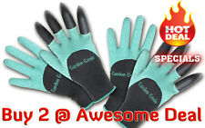 Garden Genie Gloves Gardening Gloves Digging Gloves - See Video In Listing