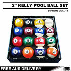 2'' KELLY POOL BALL SET SALE SUITS ALL-SIZE POOL TABLES FREE AU DELIVERY