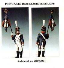 METAL MODELES MM12 - PORTE-AIGLE 1808 INFANTERIE DE LIGNE - 54mm METAL