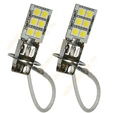 2pcs H3 12-5050 SMD LED Car For Driving Fog Head Light Lamp Bulb Pure White New