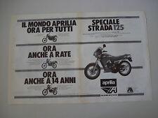 advertising Pubblicità 1986 MOTO APRILIA AS 125 R