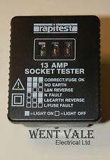 Rapitest como 109-i3a Socket Tester Nuevo En Blister Pack